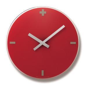 Lemnos レムノス 掛け時計 FLOW レッド LC06-16RE φ400 cecicela