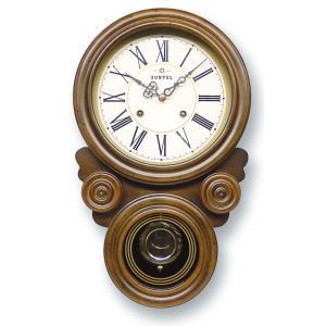 格調高く時の訪れを告げます! ボンボン報時付き だるま振り子時計 QL687R サンテル 日本製 掛け時計 壁掛け時計|cecicela
