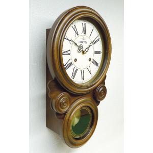 格調高く時の訪れを告げます! ボンボン報時付き だるま振り子時計 QL687R サンテル 日本製 掛け時計 壁掛け時計|cecicela|02