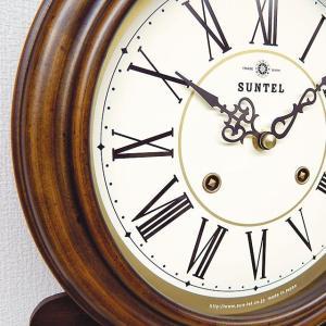 格調高く時の訪れを告げます! ボンボン報時付き だるま振り子時計 QL687R サンテル 日本製 掛け時計 壁掛け時計|cecicela|03
