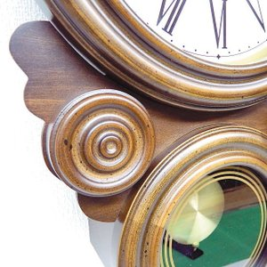 格調高く時の訪れを告げます! ボンボン報時付き だるま振り子時計 QL687R サンテル 日本製 掛け時計 壁掛け時計|cecicela|04