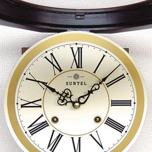 格調高く時の訪れを告げます! ボンボン報時付き だるま振り子時計 QL687R サンテル 日本製 掛け時計 壁掛け時計|cecicela|05
