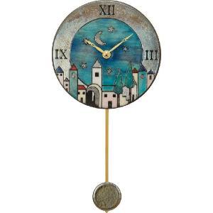 振り子時計 アントニオ・ザッカレラ 陶器  ZC101-A04 送料無料 掛け時計 お洒落 ギフト|cecicela
