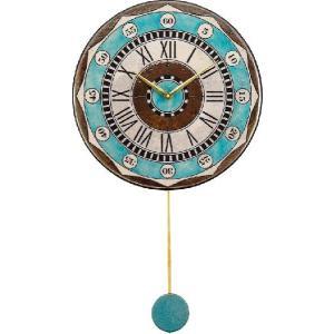 振り子時計 アントニオ・ザッカレラ 陶器 ZC135-004 送料無料 掛け時計 お洒落 ギフト|cecicela