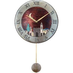 振り子時計 アントニオ・ザッカレラ 陶器 ZC152-001 送料無料 掛け時計 お洒落 ギフト|cecicela