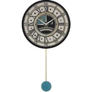 振り子時計 アントニオ・ザッカレラ 陶器 ZC180-003 掛け時計 送料無料 掛け時計 お洒落 ギフト|cecicela