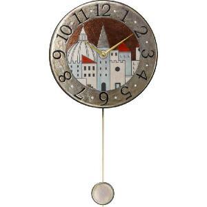 振り子時計 アントニオ・ザッカレラ 陶器 ZC900-001 送料無料 掛け時計 お洒落 ギフト|cecicela