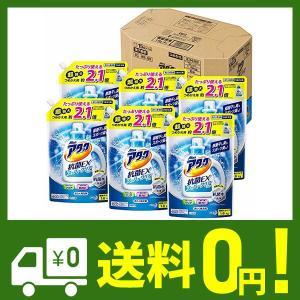 【ケース販売】アタック 抗菌EX スーパークリアジェル 洗濯洗剤 液体 詰め替え 大容量 1.6kg...
