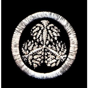葵紋 家紋刺繍データー  46*47mm/4813針  ■関係者 徳川、松平、伊奈、井上、一条、賀茂...