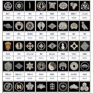 日本の代表的な家紋を刺繍化したデーター集です。
