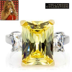 リング イエローダイヤモンド カクテルリング 9キャラット マライア キャリー コレクション|celeb-cz-jewelry