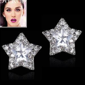 ピアス ダイヤモンド 星 スター パヴェ ケイティ ペリー コレクション|celeb-cz-jewelry