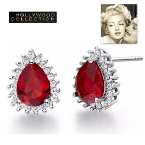 ピアス ルビー レッド ティアドロップ ピアス「ホンキートンク」ラナ ターナー コレクション|celeb-cz-jewelry
