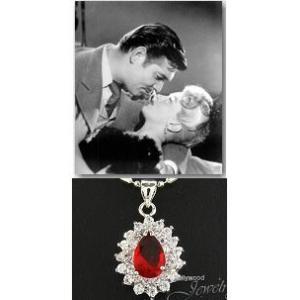ネックレス ルビー レッド ティアドロップ ダイヤモンド ネックレス「ホンキートンク」ラナ ターナー コレクション|celeb-cz-jewelry