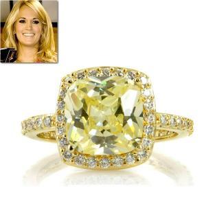 リング イエローダイヤモンド 14金 ゴールド カクテルリング キャリー アンダーウッド コレクション|celeb-cz-jewelry