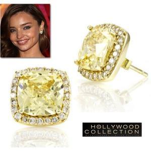 ピアス イエロー ダイヤモンド 14金 スタッド ミランダ カー コレクション|celeb-cz-jewelry