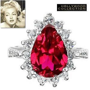 リング ルビー レッド ティアドロップ「ホンキートンク」ラナ ターナー コレクション|celeb-cz-jewelry