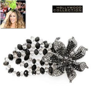 ブレスレット 花 フラワー ブラックダイヤモンド サラ ジェシカ パーカー コレクション|celeb-cz-jewelry