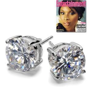 ピアス 一粒 ダイヤモンド クラシック 4キャラット ジェニファー ハドソン コレクション celeb-cz-jewelry
