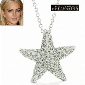 ネックレス ダイヤモンド スターフィッシュ ヒトデ パヴェ リンジーローハン コレクション|celeb-cz-jewelry