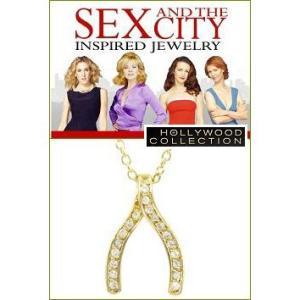 ネックレス ダイヤモンド 14金「願いが叶う」ウイッシュボーン SEX AND THE CITY コレクション|celeb-cz-jewelry