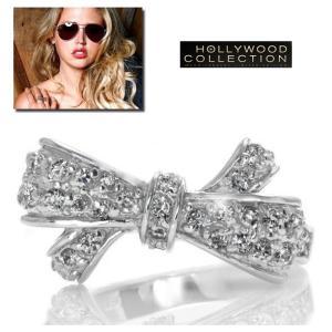 リボン リング ダイヤモンド パヴェ エステラ ウォーレン コレクション|celeb-cz-jewelry