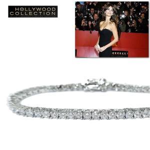 ブレスレット ダイヤモンド 3mm テニスブレスレット ペネロペ  クルス コレクション|celeb-cz-jewelry