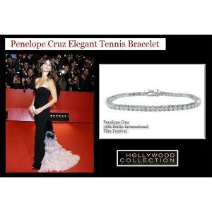 ブレスレット ダイヤモンド 3mm テニスブレスレット ペネロペ  クルス コレクション celeb-cz-jewelry 02