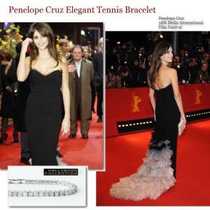 ブレスレット ダイヤモンド 3mm テニスブレスレット ペネロペ  クルス コレクション celeb-cz-jewelry 07