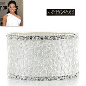 ブライダル ブレスレット シルバー カフ スネーク テクスチャー ミーガン フォックス コレクション|celeb-cz-jewelry