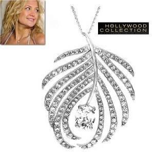 ネックレス ダイヤモンド ヤシの木 葉 トロピカル ケイト ハドソン コレクション celeb-cz-jewelry