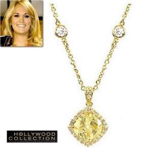 ネックレス イエローダイヤモンド 14金 ゴールド ネックレス|キャリー アンダーウッド コレクション|celeb-cz-jewelry