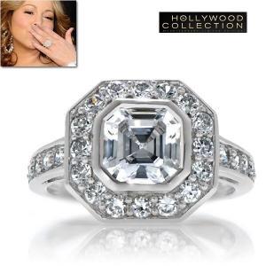 リング ダイヤモンド セレブの指輪 ヴィンテージ アールデコ マライア キャリー コレクション|celeb-cz-jewelry