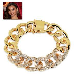 ブレスレット 18金 ゴールド チェーン ブレスレット|ミランダ カー コレクション|celeb-cz-jewelry