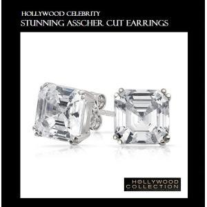ピアス 一粒 ダイヤモンド アッシャーカット 8mm ヴィクトリア べッカム コレクション|celeb-cz-jewelry|03
