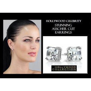 ピアス 一粒 ダイヤモンド アッシャーカット 8mm ヴィクトリア べッカム コレクション|celeb-cz-jewelry|04