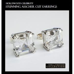ピアス 一粒 ダイヤモンド アッシャーカット 8mm ヴィクトリア べッカム コレクション|celeb-cz-jewelry|05