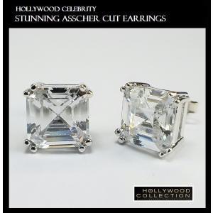 ピアス 一粒 ダイヤモンド アッシャーカット 8mm ヴィクトリア べッカム コレクション|celeb-cz-jewelry|07