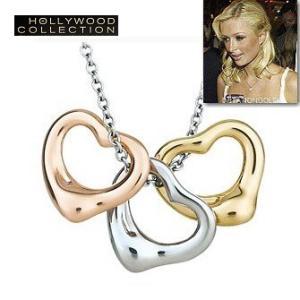 ネックレス オープンハート 3 ハート パリス ヒルトン コレクション|celeb-cz-jewelry