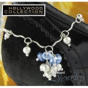 アンクレット レディース ブルー オーストリア クリスタル ハリウッド セレブ コレクション|celeb-cz-jewelry