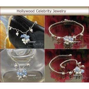 アンクレット レディース ブルー オーストリア クリスタル ハリウッド セレブ コレクション celeb-cz-jewelry 03