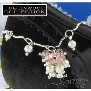 アンクレット レディース ピンク オーストリア クリスタル ハリウッド セレブ コレクション|celeb-cz-jewelry