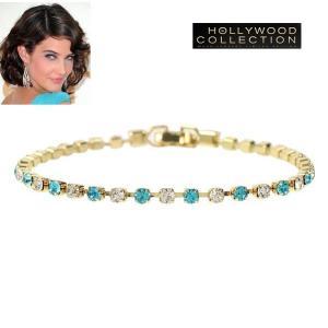 ブレスレット アクアマリン ブルー ゴールド 3月誕生石 コビー スマルダーズ コレクション|celeb-cz-jewelry