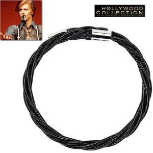 メンズ ブレスレット ギター 弦 ブラック デヴィッド ボウイ コレクション|celeb-cz-jewelry