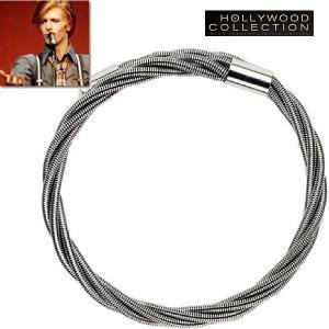 メンズ ブレスレット ギター 弦 シルバー デヴィッド ボウイ コレクション|celeb-cz-jewelry