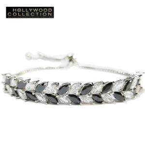 ブレスレット アンクレット ブラックダイヤモンド リーフ ハリウッド セレブ コレクション celeb-cz-jewelry