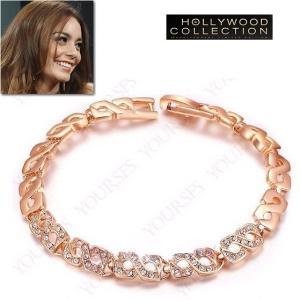 チェーン ブレスレット ピンクゴールド パヴェ ヴァネッサ ハジェンズ コレクション|celeb-cz-jewelry