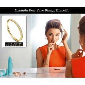 バングル ブレスレット 18金 ゴールド パヴェ ダイヤモンド ミランダ カー コレクション celeb-cz-jewelry 02