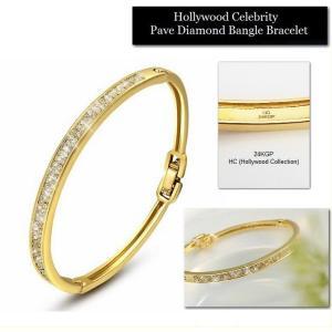 バングル ブレスレット 18金 ゴールド パヴェ ダイヤモンド ミランダ カー コレクション celeb-cz-jewelry 05