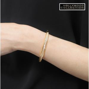 バングル ブレスレット 18金 ゴールド パヴェ ダイヤモンド ミランダ カー コレクション celeb-cz-jewelry 08